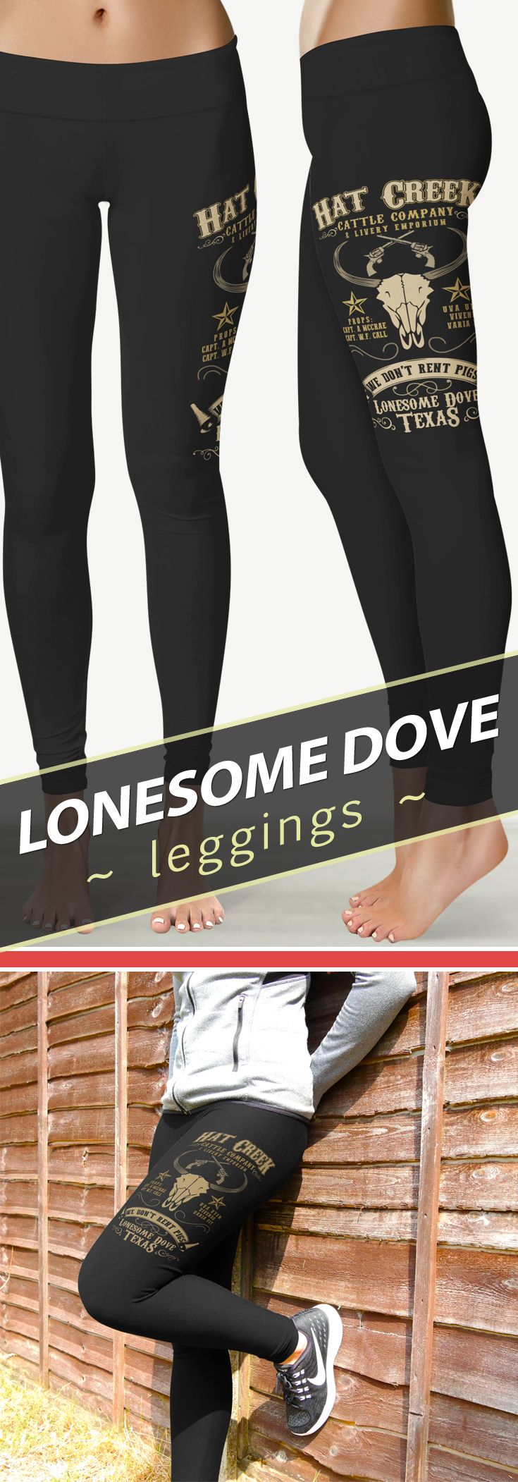 """<3 I Love These """"Hat Creek Cattle Company"""" Lonesome Dove Inspired Leggings!"""