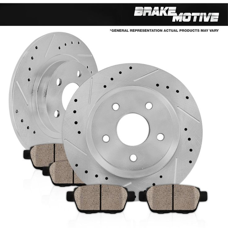Cool Great Rear Drilled Slotted Brake Rotors And Ceramic Pads 2006 2007 2008 - 2013 Mazda 3 2018