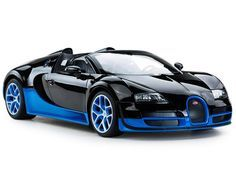- 1/14 Scale Radio Control Bugatti Grand Sport Vitesse - Full Function Radio Controlled; Licensed RC Model Car - Forward, Reverse, Stop, Left & Right - Detailed Interior / Exterior; Working Head/Tail