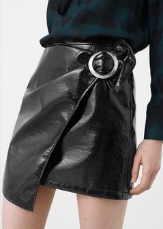 Buckle wrap skirt