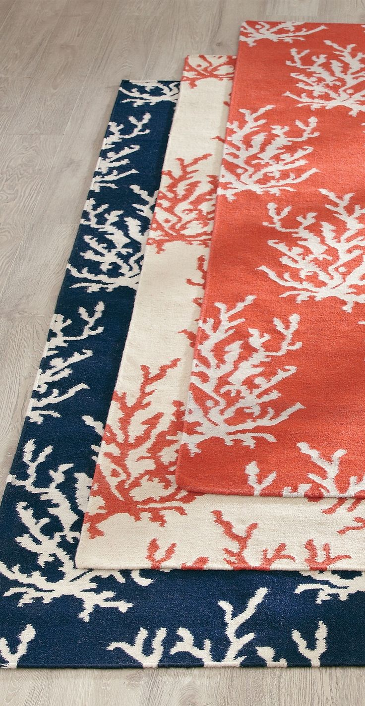 Durable and versatile, our reversible flatweave Coral Reef Rug offers year-round comfort in most any room.