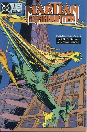 Martian Manhunter was a four-issue limited series published from May-August of 1988. Written by J.M. DeMatteis with illustrations by Mark Badger, the series re-evaluated the origin of the Martian Manhunter and introduced the character of H'ronmeer, the Martian death god. The series also featured guest appearances by members of Justice League International.