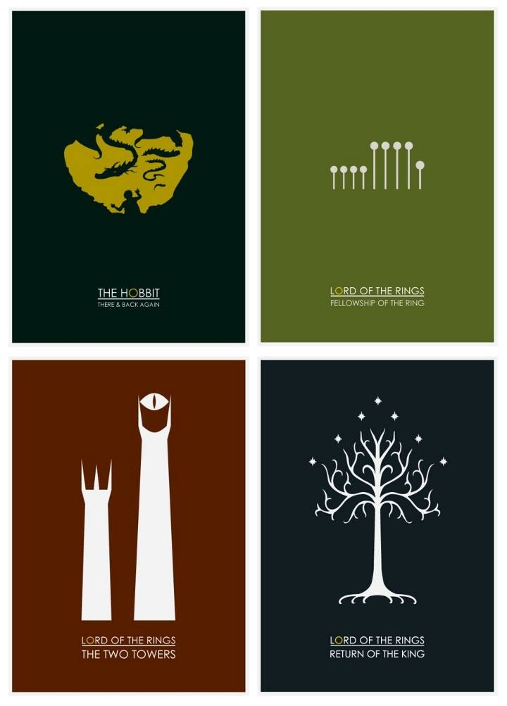 Lord of the Rings Collection - Minimalist: Books Covers, Minimalist Design, The Lord, Minimalist Posters, Minimalist Movie Posters, The Hobbit, Middle Earth, Covers Art, Thehobbit