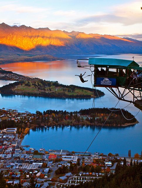 Leap of Faith - Bungy Jumping from the top of the gondola in Queenstown, New Zealand
