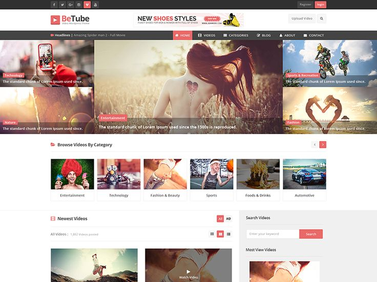 Betube video WordPress theme - VideoBox- Best Video Theme Find out more at http://www.nimbusthemes.com/wordpress-video-themes/ This post may contain affiliate links.