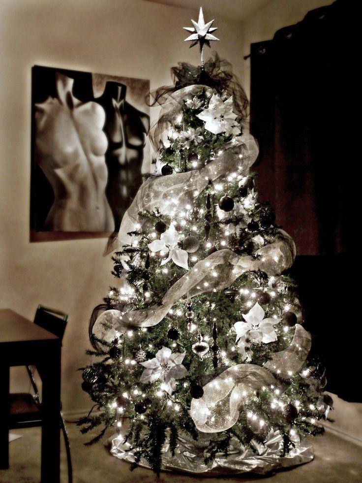 ideas-para-decoracion-de-navidad-blanco-y-negro (4) - Curso de organizacion de hogar aprenda a ser organizado en poco tiempo
