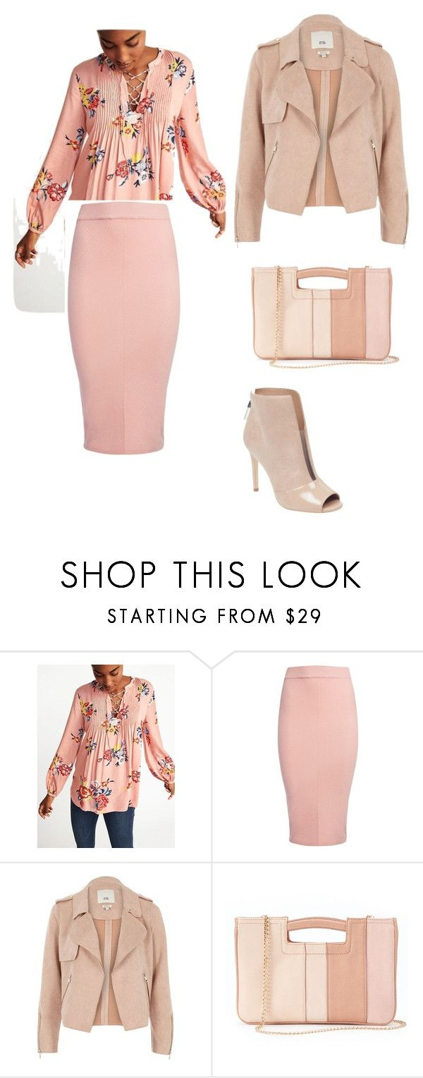 """""""Spring 2018 Blooming Dahlia #3"""" by krayscue on Polyvore featuring Sans Souci, River Island, LC Lauren Conrad and GUESS"""