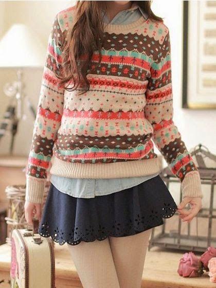 Mulher Outono Rodada Collar curto Knit Sweater                                                                                                                                                      Mais