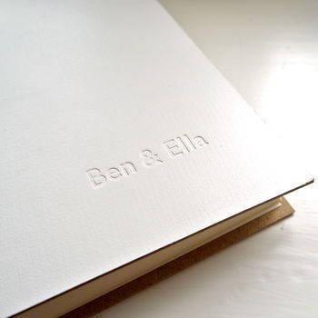 Personalised Contemporary Leather Photo Album