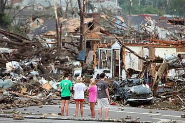 Tornadoes take staggering toll in Alabama and Deep South (video) - CSMonitor.com Credit: Dusty Compton/Tuscaloosa News, via Associated Press