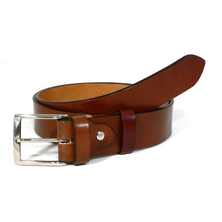 Carota® - Cintura in cuoio tamponato Marrone Medio - belt tamponed B