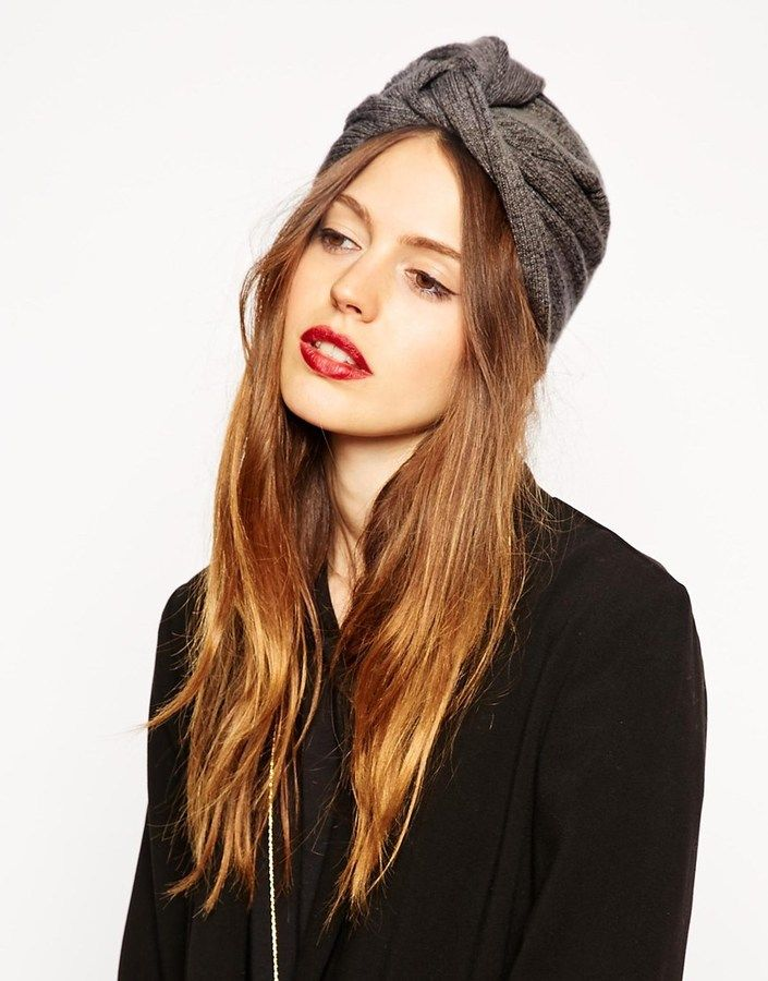 ASOS COLLECTION ASOS Fine Rib Knitted Turban Hat