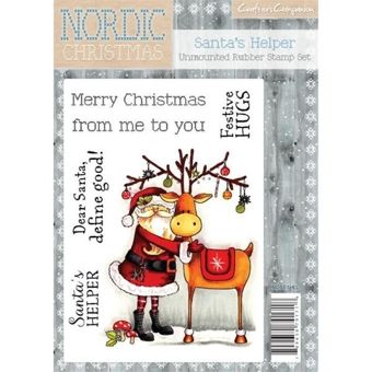 Crafters Companion Nordic Christmas A6 Stamp Santa's Helper