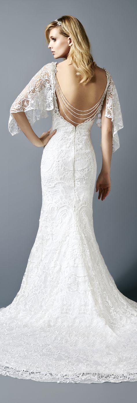 Featured Dress: Val Stefani; Wedding dress idea.