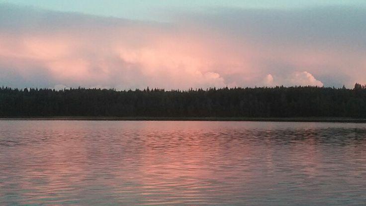 Закат над озером Лебяжье. Фото Е.Кейль