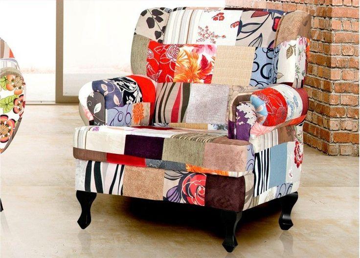 Poltrona Patchwork Gioconda Decorativa Sala Pronta Entrega - R$ 699,00 no MercadoLivre