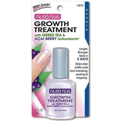 RESULTS IN 5 DAYS Longer, Stronger Nails in as Few as 5 Days Helps Stop Brittle Nails from Breaking, Peeling and Chipping, Allowing Natural Growth Growth Treatment with Green Tea & Acai Berry Antioxid