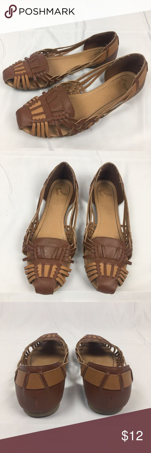 Report Brown Woven Flats Super cute brown woven flats. Size 9.5. In good used condition Report Shoes Flats & Loafers