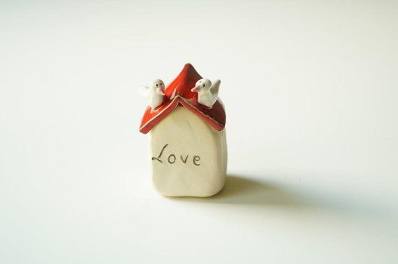 Home Cake Topper Ceramic House Wedding Cake Topper by HerMoments