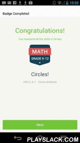 "Common Core Quest  Android App - playslack.com ,  Students, teachers and parents * Take quizzes to demonstrate mastery of Common Core Math and ELA skills (all K-12 CC standards)* Recommends videos and games to learn just the concepts you need to pass.* Earn ribbons for each Common Core standard (e.g. ""G.C.1 Prove all circles are similar"")* Teachers see results in mastery charts for easy remediation or intervention* SBAC and PARCC style questions from leaders in educational content such as…"