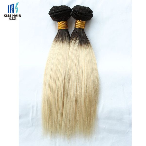 T1b 613 Blonde Extensions Virgin Hair Straight Two 1 Bundle Tone Ombre Peruvian Remy Human Hair Weave Bundle Kiss Hair Fashion Remy Weft Hair Extensions Remy Human Hair Wefts From Kisshairfashion, $19.1| Dhgate.Com