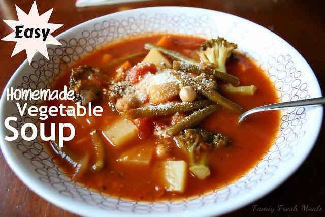 Easy Homemade Vegetable Soup - Family Fresh Meals