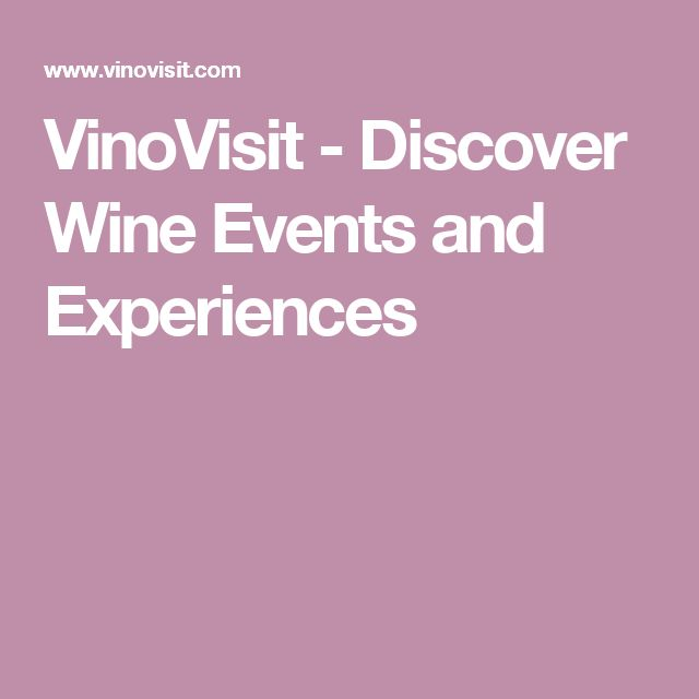 VinoVisit - Discover Wine Events and Experiences