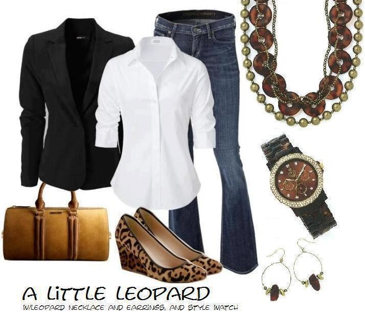 Love this!! The jewelry is all Premier Designs!: Outfits, First Jewelry Design, Casual Friday, Leopards Shoes, Style, Leopards Prints, Animal Prints, Premier Jewelry, First Designs