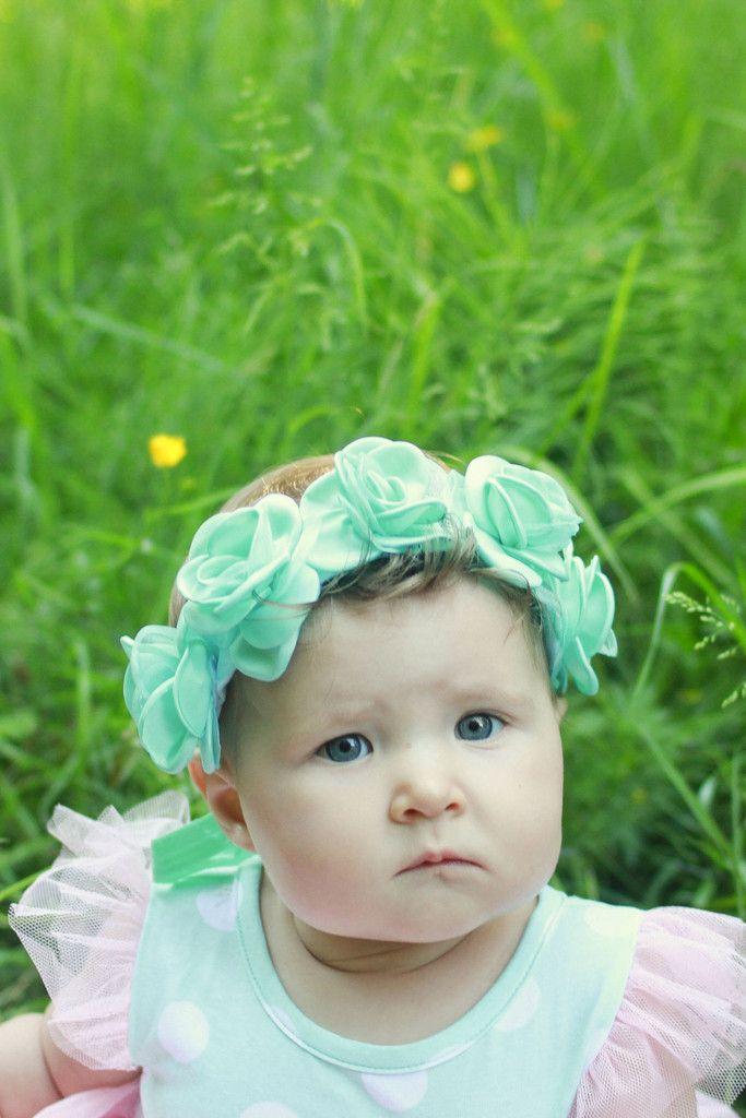 Mint Dava Crown – Arrow & Lace Designs Floral Crown