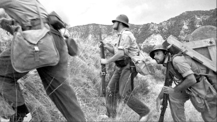 Republican soldiers at the Battle of the Ebro, July-November, 1938