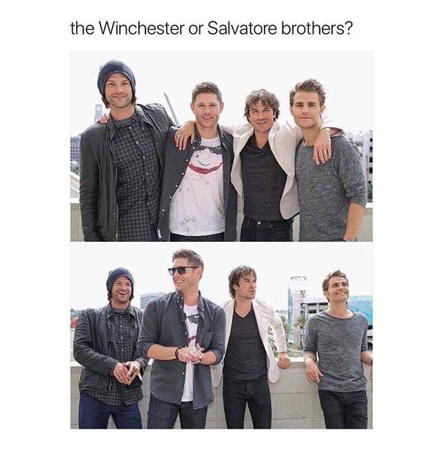 So much beauty in one picture..BUT I choose SALVATORE BEOTHERS DUH. and fyi DAMON IS MIIIIIINNNNEEE