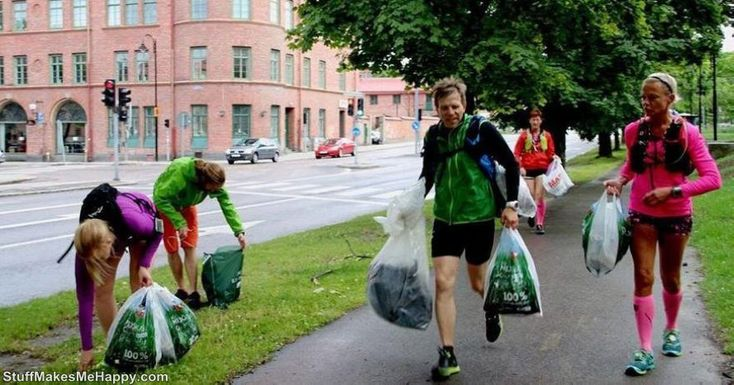 What is #Plogging? In Sweden, People Started Running Around On #Trash Cans, #Photographing Themselves and This Is Considered a New Cool #Fitness #Trend http://www.stuffmakesmehappy.com/2018/02/what-is-plogging-in-sweden-people.html