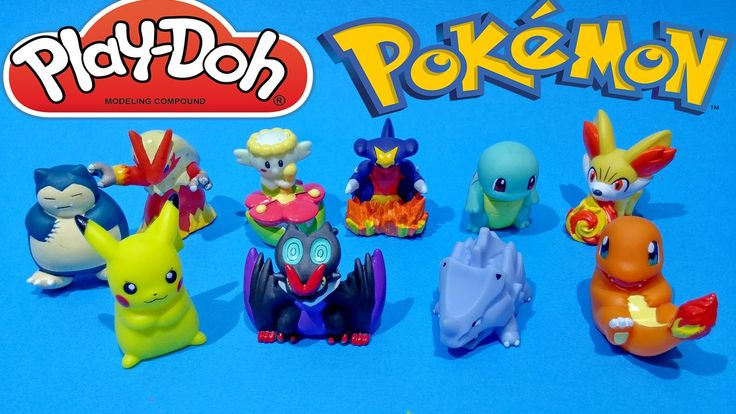 Pokemon Play Doh Surprise Eggs Unboxing Toys Video Opening For Kids Worl...