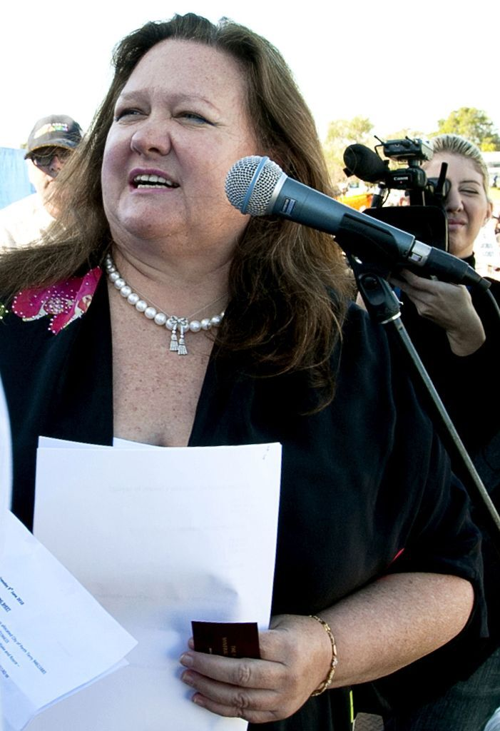 BILLIONAIRE Gina Rinehart has attributed her half billion dollar investment in Gympie's dairy industry to her involvement in mining.