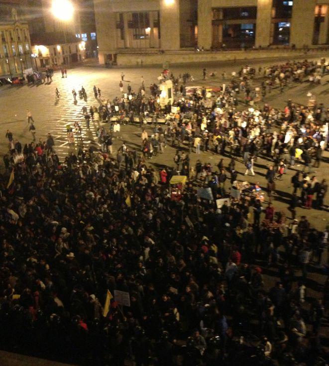 Marchas pacíficas en Bogotá por paro agrario