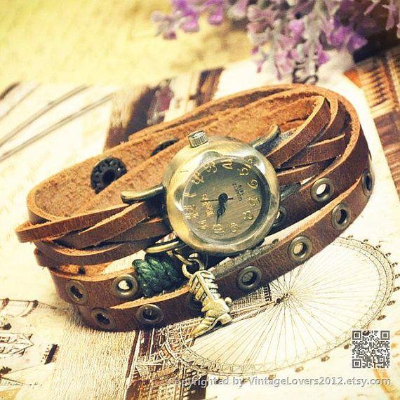 Charm Bracelet Watch WAT0006 by VintageLovers2012 on Etsy, $16.99