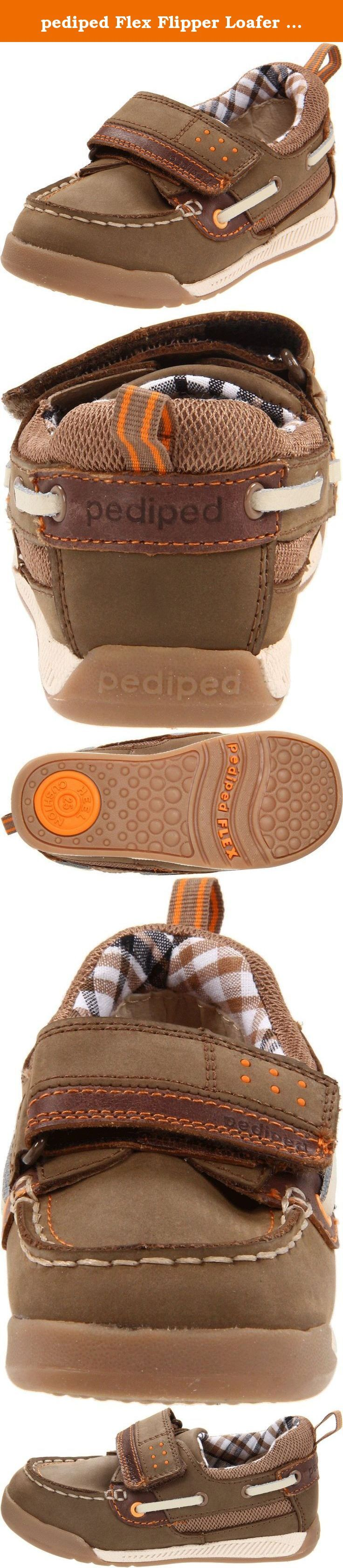 pediped Flex Flipper Loafer (Toddler/Little Kid),Brown,22 EU (6-6.5 M US Toddler). Pediped Flex Kat - Black Fashion boot for your little fashionista. All leather uppers insure comfort, breathability and style. Flexible soles insure comfort and natural foot motion. Zipper enclosures for ease of wear. Flex fit system for additional wear time. Made in China .