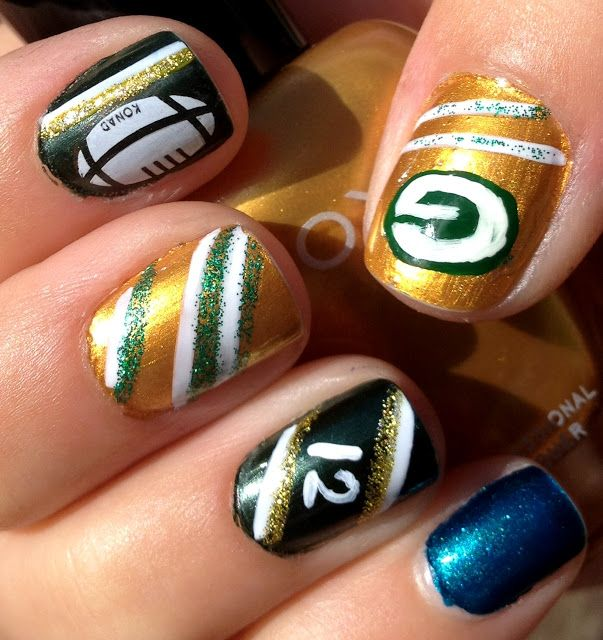 Green Bay Packers Nails Designs Pinpoint Properties