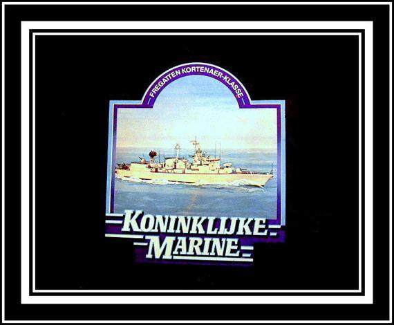 Vintage ongebruikte sticker van koninklijke marine. door Woests