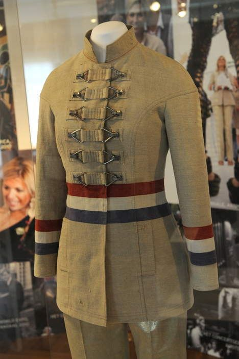 Dutch designer Jan Taminiau. This jacket is made from post bags. Our princess Maxima wore it.