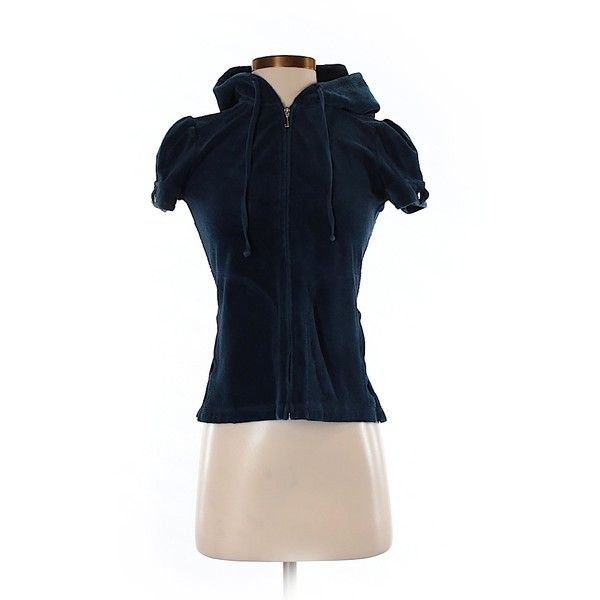 Pre-owned Juicy Couture Zip Up Hoodie Size 4: Dark Blue Women's Tops ($29) ❤ liked on Polyvore featuring tops, hoodies, dark blue, juicy couture, blue zip up hoodie, dark blue hoodies, juicy couture hoodies and juicy couture tops