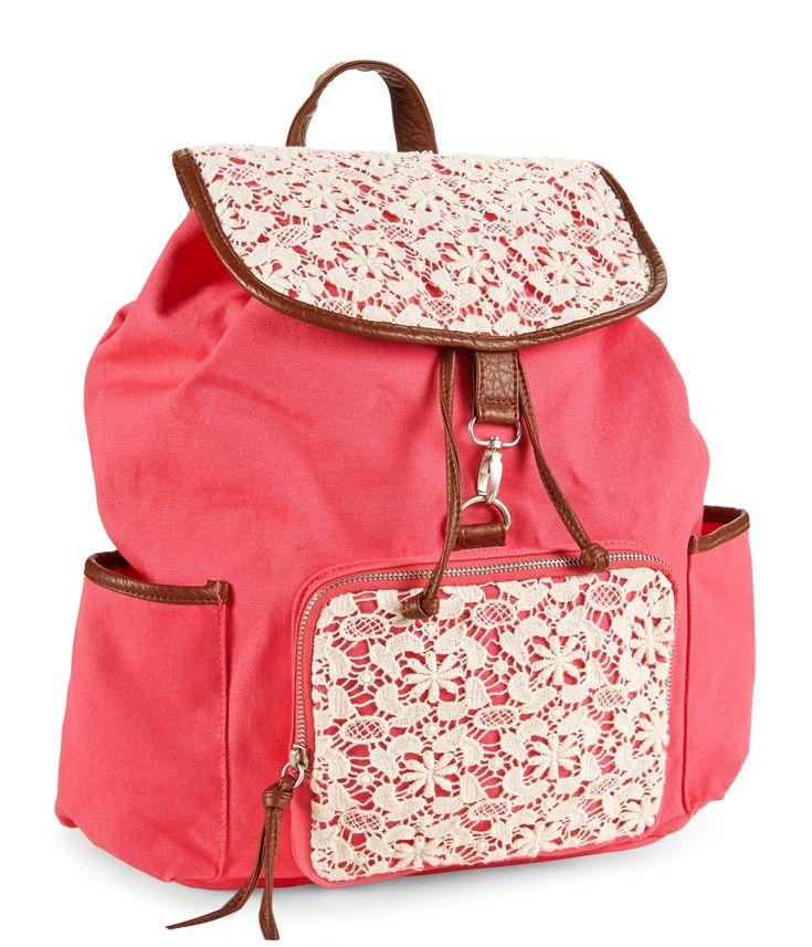 Floral Crochet Backpack - Aeropostale