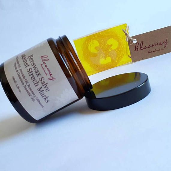 Cellulite Treatment Kit, Cellulite Loofah Soap, Beeswax Salve against Strech Marks, Natural Body Reshaping Treatment, Vegan Body Firming Set