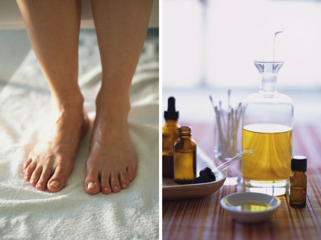 Tea Tree recipes for direct application, soaking in water, lotion and powder for both toe and finger nails.