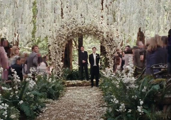 The role model of an enchanted forest wedding... From Breaking Dawn.