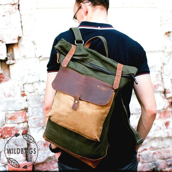 Мужские рюкзаки - Irving зеленый
