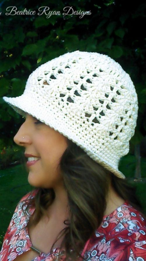 Cotton Crochet Sun Hat Pattern | AllFreeCrochet.com