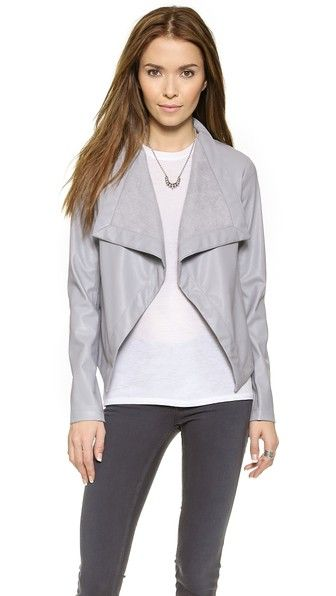 BB Dakota Lillian Drapey Front Jacket -- this would look great w/ a blush dress or skirt!
