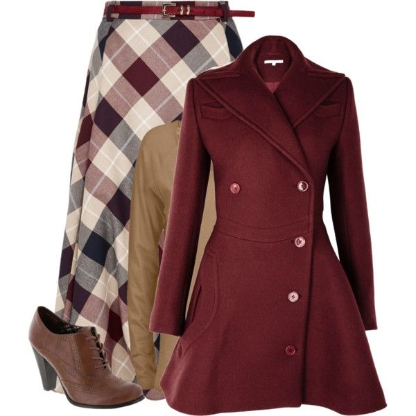 """KindaVintageFall"" by heyitistay on Polyvore Lovely classic outfit. A low boot would be more comfy."