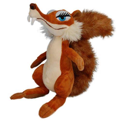 """Мягкая игрушка Скратти или Скрэтти, саблезубая белка или крысобелка из мультфильма """"Ледниковый период"""""""
